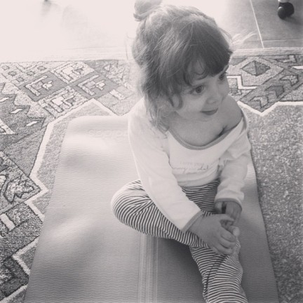 This little lady will soon turn two and it's showing. Tantrums have made an appearance but we're handling them better than we ever did with her older sister. Yoga is slowly but surely becoming a life-saver for this mum.