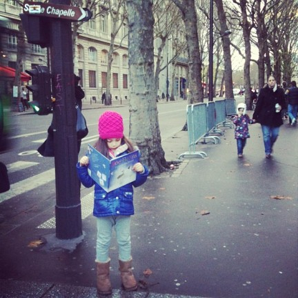 zoe and beans in paris