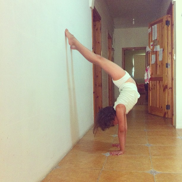 2013 will also be remembered as the year Maia spent upside down. Handstands and cartwheels ALL THE TIME.