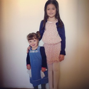 Maia and Robin a year ago. I cannot believe how much they've grown!