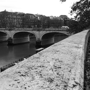 I left most of my worries here, on the banks of the Tevere.